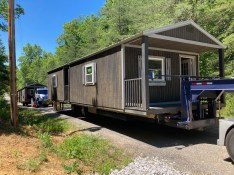 Movers can haul 2 cabins per truck