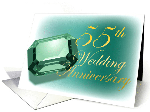 55th Wedding Anniversary Card (155688
