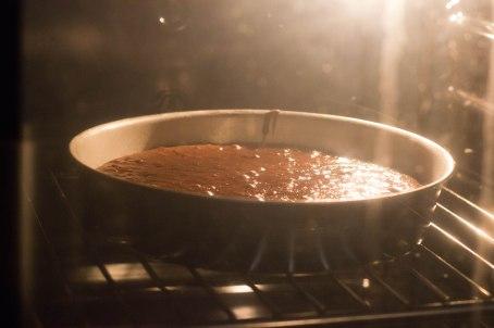 Brownie en cuisson