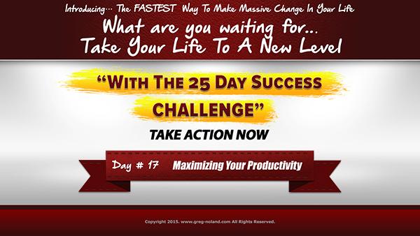 Day 17: Maximizing Your Productivity