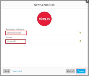 Enter your Eloqua details in Workfront