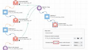 Eloqua multistep campaign next email