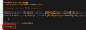Set Eloqua Landing Page