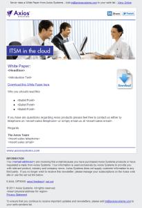 Eloqua Lead Nurture - new email design