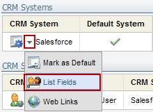 List CRM fields
