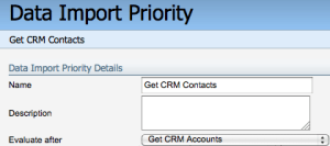 Eloqua Salesforce Integration Data Prority