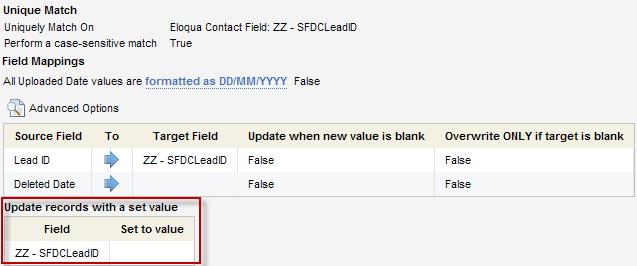 Eloqua SFDC Get Deleted Leads