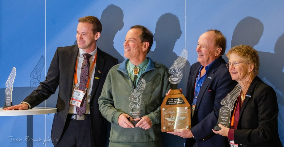 Greg Brown inducted into the Flight Instructor Hall of Fame