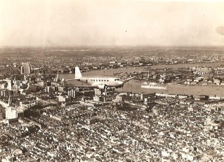 Maiden flight over Shanghai, 1935