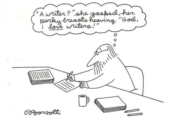 A writer she gasped