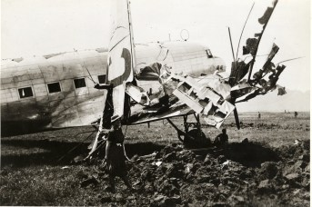 #46 with its wing blown off, May 1941