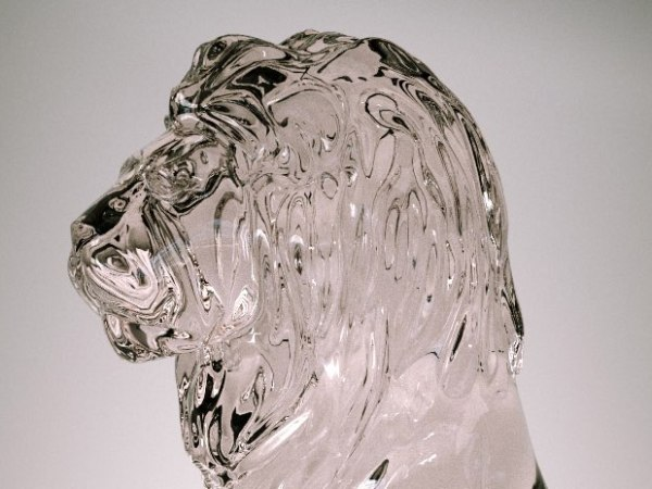 "Gregdesign | Octane render ""Lion Glass"" rendu de verre image 2"