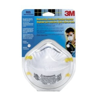 Respirator 3M™ Sanding and Fiberglass Insulation 8654ES N95 2pkg