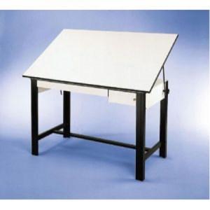 Alvin DESIGNMASTER Black 37.5 x 72 2 White DRAWERS