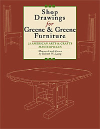 Shop Drawings for Greene & Greene Furniture