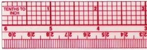 """Ruler, 12"""" 10ths/Metric Beveled Ruler B-65"""