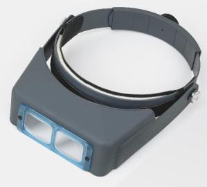 """OptiVisor DA-3 (OptiVISOR Binocular) 1 3/4 X at 14""""Optical Glass Prismatic Lenses"""