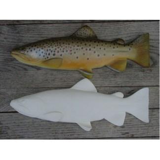 "Trout, Brown, Study Cast Fish  15 1/2"" by Clark Schreibeis"