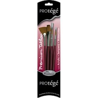 Connoisseur Taklon Plus Short Handle Brush 4 Piece Set
