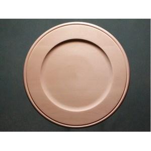 "Plate Basswood, Outside Beaded Rim, 16"""