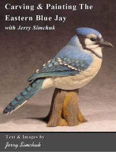 KIT-Eastern Blue Jay Tupelo WOOD CARVING KIT, Jerry Simchuk