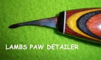 """Helvie Knife, Detail Sheep's Foot, Bird  3/8"""" x 1 1/4"""""""