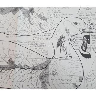 Canada Goose-Swimmer, Decoy, Life #208