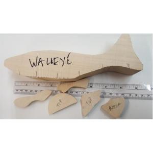 Walleye Fish - Josh Guge cutout tupelo