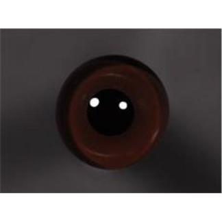 Tohickon Glass Eyes Off-Wire #112 - 14mm Dk. Brown M/P
