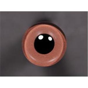 Tohickon Glass Eyes Off-Wire #112 - 10mm Light Brown M/P