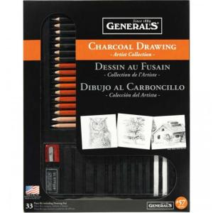 General's 57-RETRO Charcoal Drawing Set - Artist Collection