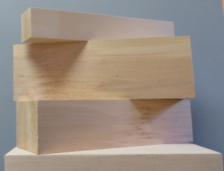 """Basswood Carving Blocks 3/8"""" thick"""