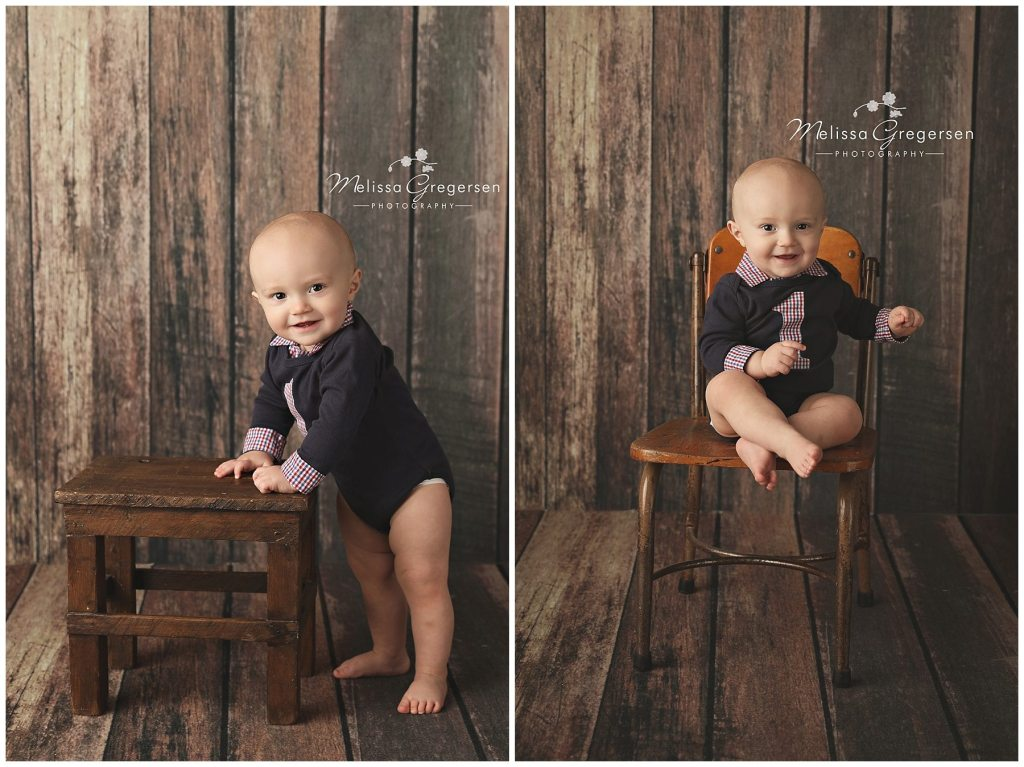 Gus::One year photography session with cake smash {Kalamazoo Baby Photographer}
