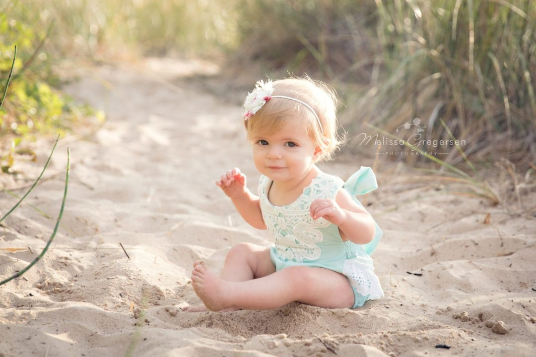 Baby photography session in south haven Michigan