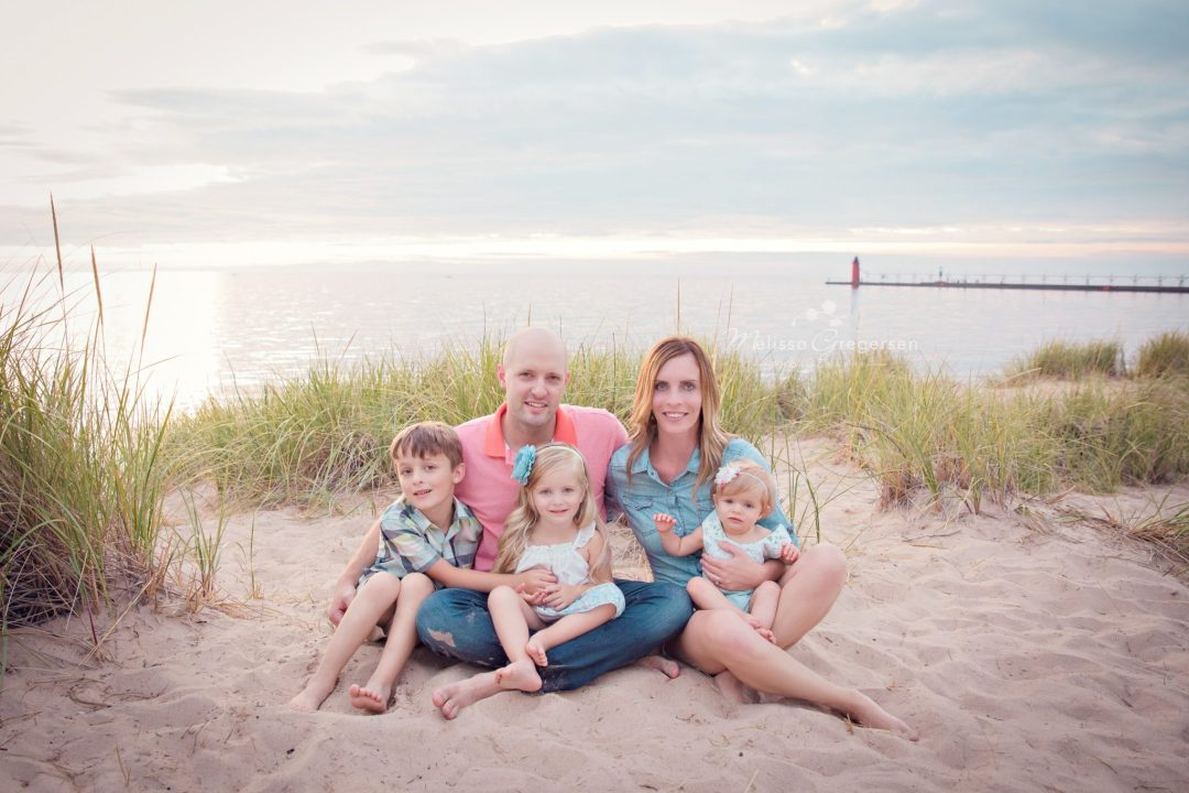 family photography session on Lake Michigan in south haven