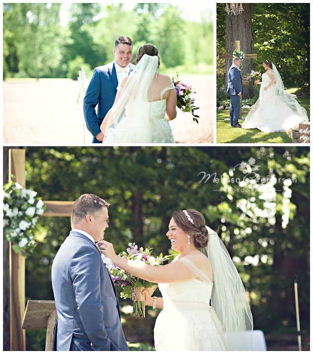 the joy of the first look of the bride and groom