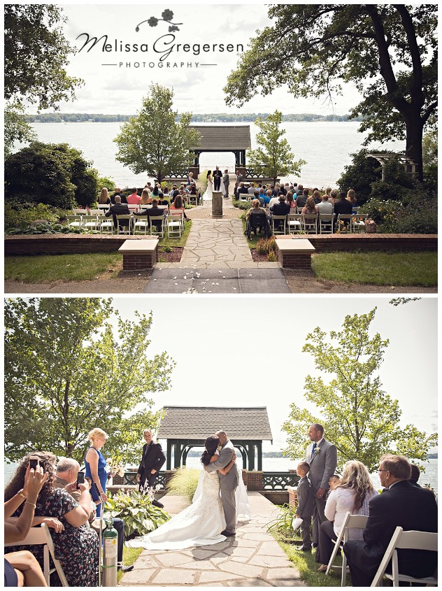 Stunning views as we take a step back during the ceremony to capture the entire wedding!