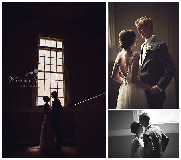 Magical light coming through the stained glass of the church helped create magical images of the bride and groom