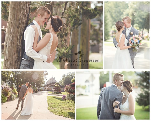 Tender moments of the newly married couple at a local park after the ceremony.