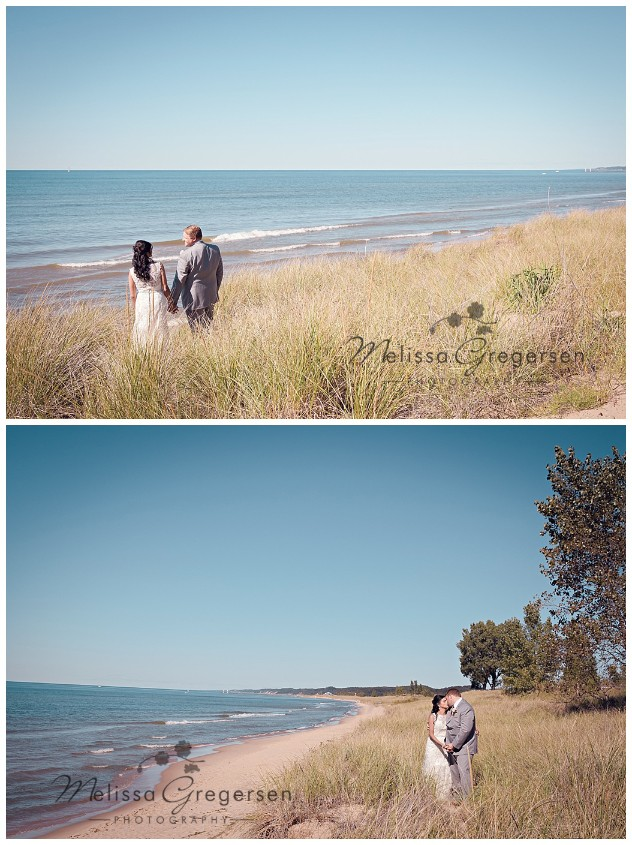 Beautiful weather equals wedding portraits at the beach!