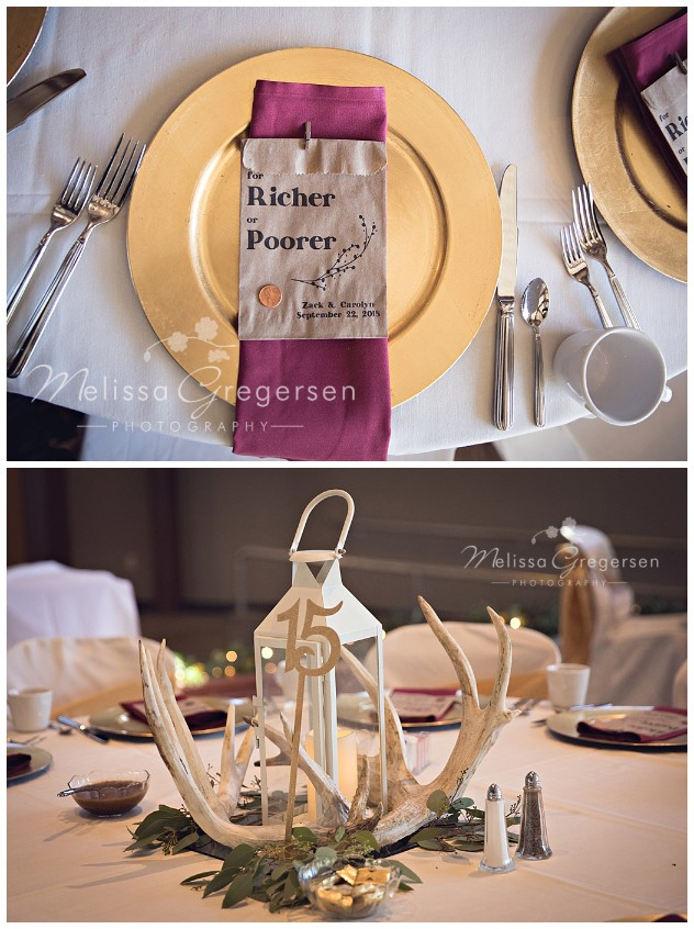 Wedding table details were just beautiful!