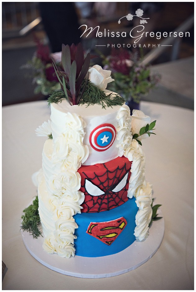 Wedding cake perfection, Super hero style.