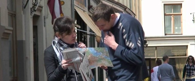 image of someone asking for directions