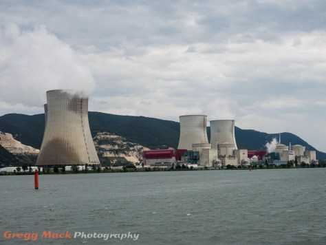 Nuclear power plants on the Rhone River, north of Viviers.