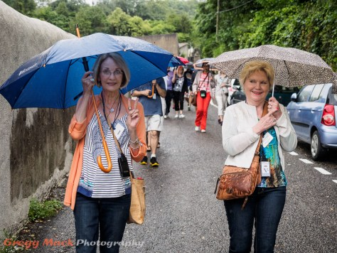 Jana and Barb on the walking tour of Vienne, France.
