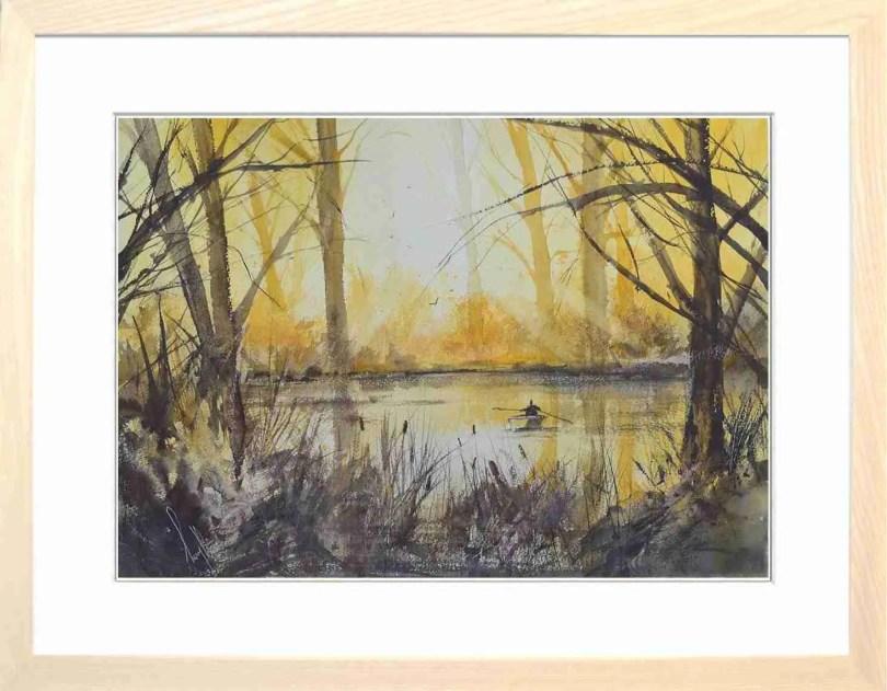 Framed Painting A Quiet Spot
