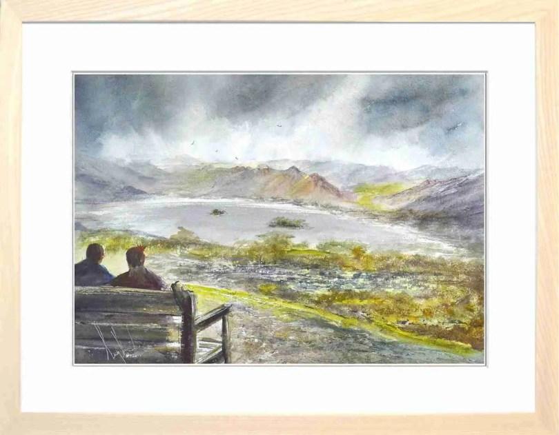Framed Painting Atop Keswicks Mountain