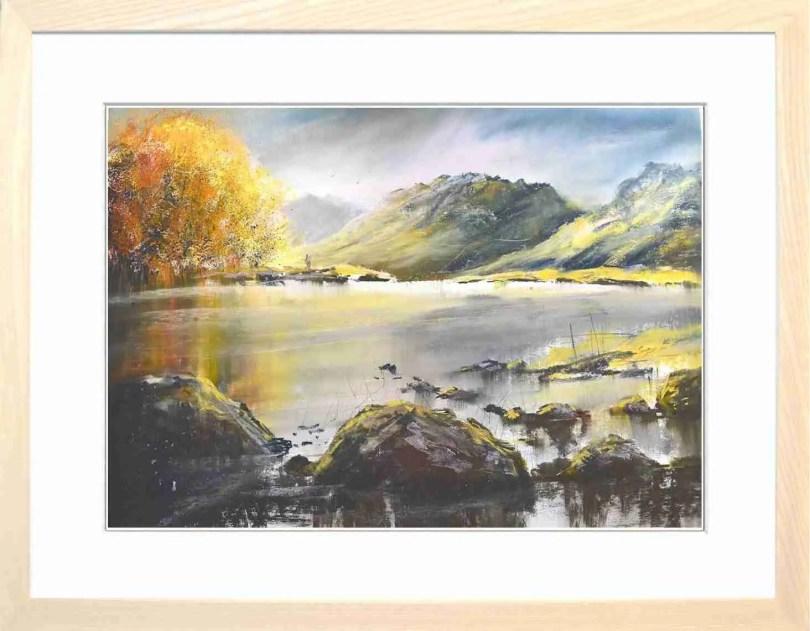 Framed Painting Autumn At Blea Tarn II