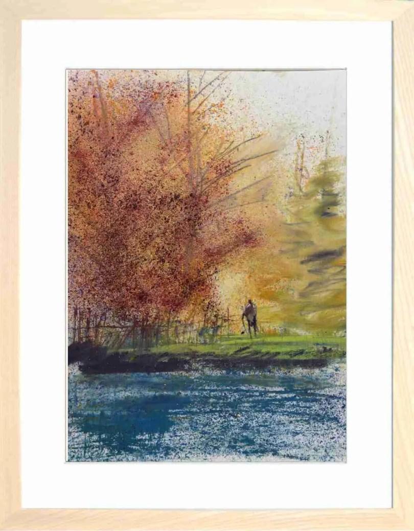 Framed Painting Autumn Foliage
