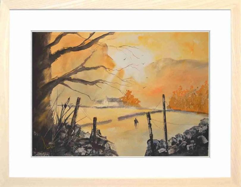 Framed Painting Autumn Morning Langdale V